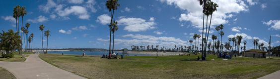 Panoramic view over Mission Bay near San Diego, California. San Diego, USA - MAy 2016: Panoramic view over Mission Bay near San Diego, California - USA, in May stock photos