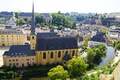Neumunster Abbey. Luxembourg Royalty Free Stock Photo