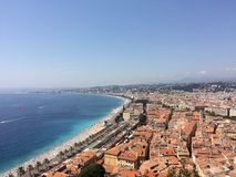 Panoramic view over Nice, south France Royalty Free Stock Image