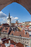 Panoramic view over the old town of Tallinn Stock Photos