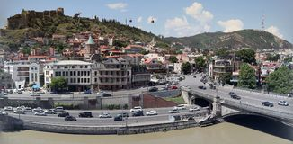 Panoramic view over old town of Tbilisi Stock Photo