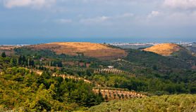 Panoramic view over open countryside Stock Image