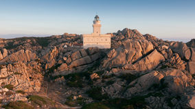 Panoramic view over Porto Pollo. A panoramic view over the coastline of Porto Pollo Gulf in Sardinia`s sea, Italy Stock Photography