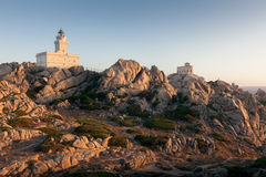 Panoramic view over Porto Pollo. A panoramic view over the coastline of Porto Pollo Gulf in Sardinia`s sea, Italy Stock Images