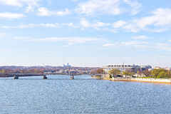Panoramic view over Potomac river in Washington DC. Royalty Free Stock Image