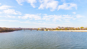 Panoramic view over Potomac river in Washington DC. Royalty Free Stock Photography