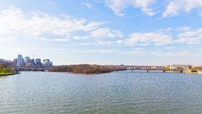 Panoramic view over Potomac river in Washington DC. Royalty Free Stock Photo