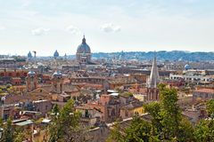 Panoramic view over Rome, Italy. Stock Photo