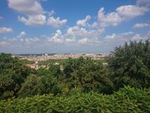 Rome, Italy, cityscape. Panoramic view over Rome, Italy stock image