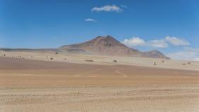 Panoramic view over the Salvador Dali Desert in Eduardo Avaroa Andean Fauna National Reserve, Bolivia. – South America Stock Photography