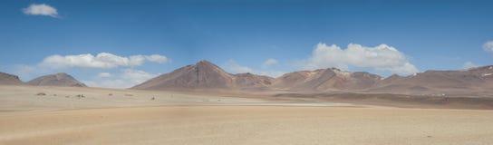 Panoramic view over the Salvador Dali Desert in Eduardo Avaroa Andean Fauna National Reserve, Bolivia. – South America Royalty Free Stock Images