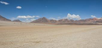 Panoramic view over the Salvador Dali Desert in Eduardo Avaroa Andean Fauna National Reserve, Bolivia. – South America Royalty Free Stock Image