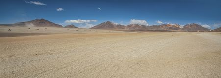 Panoramic view over the Salvador Dali Desert in Eduardo Avaroa Andean Fauna National Reserve, Bolivia. – South America Stock Image
