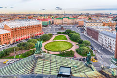 Panoramic view over St. Petersburg, Russia, from St. Isaac's Cat Stock Photography