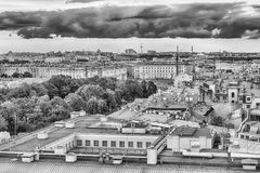 Panoramic view over St. Petersburg, Russia, from St. Isaac's Cat Royalty Free Stock Images