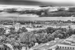 Panoramic view over St. Petersburg, Russia, from St. Isaac's Cat Royalty Free Stock Image