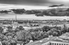 Panoramic view over St. Petersburg, Russia, from St. Isaac's Cat Stock Image