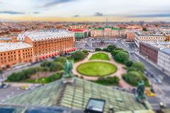 Panoramic view over St. Petersburg, Russia, from St. Isaac's Cat Stock Images
