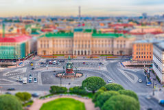 Panoramic view over St. Petersburg, Russia, from St. Isaac's Cat Royalty Free Stock Photo