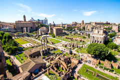 Free Panoramic View Over The Roman Forum, Rome, Italy Stock Photography - 72762322