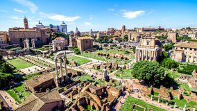Free Panoramic View Over The Roman Forum, Rome, Italy Royalty Free Stock Photography - 79663167