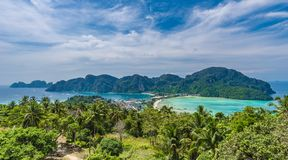 Panoramic view over Tonsai Village royalty free stock photo