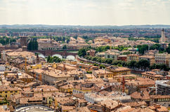 Panoramic View Over Verona, Italy Stock Images