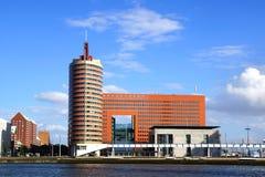 Panoramic view over  Wilhelminahof. Rotterdam Stock Photography