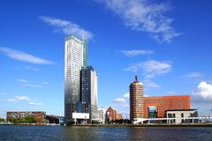 Panoramic view over  Wilhelminahof. Rotterdam Stock Image