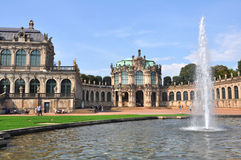 Panoramic view over the Zwinger of Dresden, Germany Stock Photos