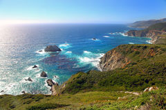 Panoramic view of Pacific coast Royalty Free Stock Images