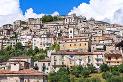 Panoramic view of Padula. Campania. Italy. Royalty Free Stock Photo