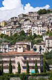 Panoramic view of Padula. Campania. Italy. Stock Images