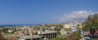 Panoramic view of Pafos. Aerial view of a panorama of Pafos taken from a high vantage point Royalty Free Stock Photography