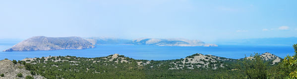Panoramic view of Pag island Royalty Free Stock Images