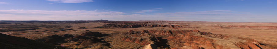 Panoramic view of the  painted desert Stock Photos
