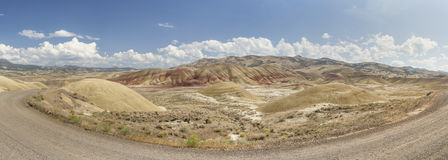 Panoramic view of Painted Hills, Oregon Royalty Free Stock Image