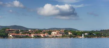 Panoramic view of Palau, Sardinia. Italy Stock Image