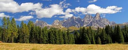 Panoramic view of Pale di San Martino Stock Image