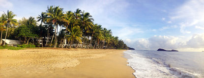 Panoramic view of Palm Cove in Queensland  Australia Royalty Free Stock Images