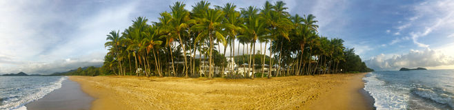 Panoramic view of Palm Cove in Queensland  Australia Stock Photos