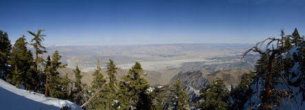 Panoramic View of Palm Springs Royalty Free Stock Photos