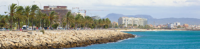 Panoramic view of Palma de Mallorca Stock Photography