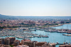 Panoramic view of Palma de Mallorca, Spain. Panoramic view of Palma de Mallorca Stock Photos