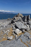 Panoramic view from Palmaria island Royalty Free Stock Photos