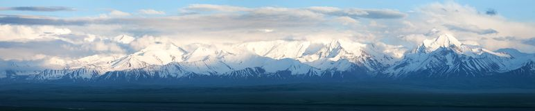 Panoramic view of Pamir mountain Royalty Free Stock Images