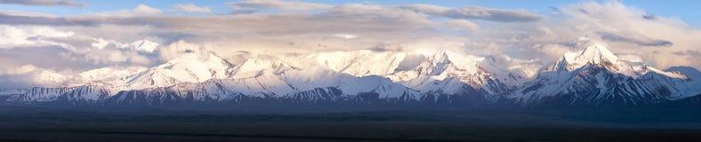 Panoramic view of Pamir mountain Royalty Free Stock Photos