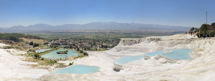 Panoramic view of Pammukale Stock Photos