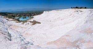 Panoramic view of Pammukale Stock Photos