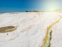 Panoramic view of Pammukale Stock Images